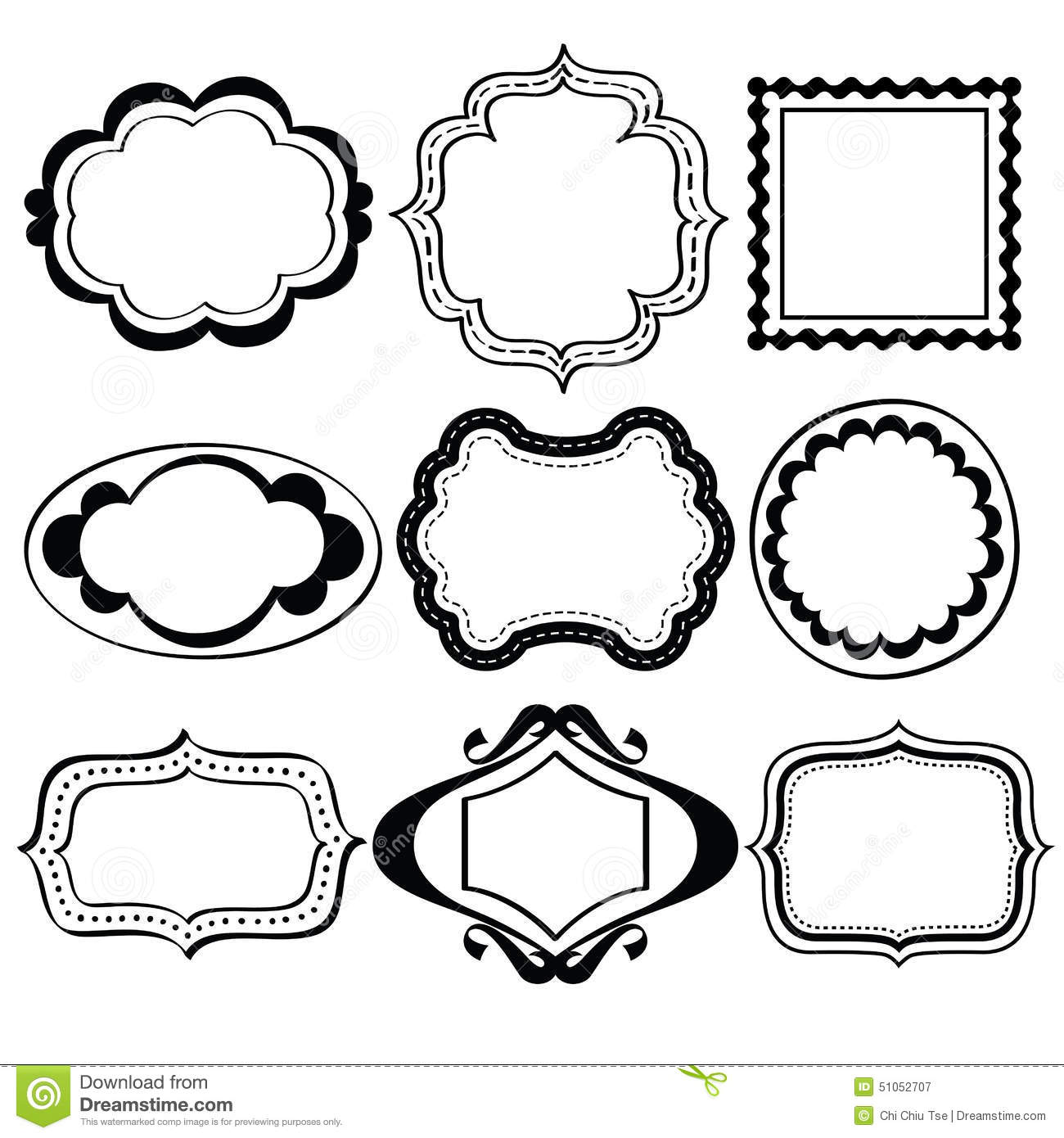 Elegant Ornate Frames Stock Illustration Illustration Of Clip