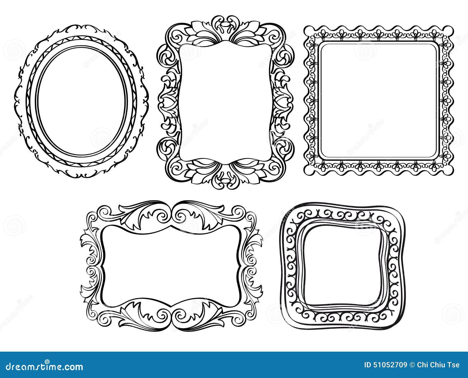Line Art Frames : Elegant ornate frames stock illustration image