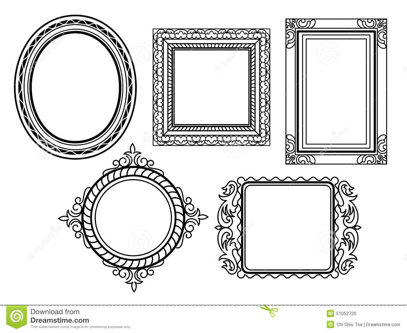 Elegant Ornate Frames Stock Illustration Illustration Of Knick