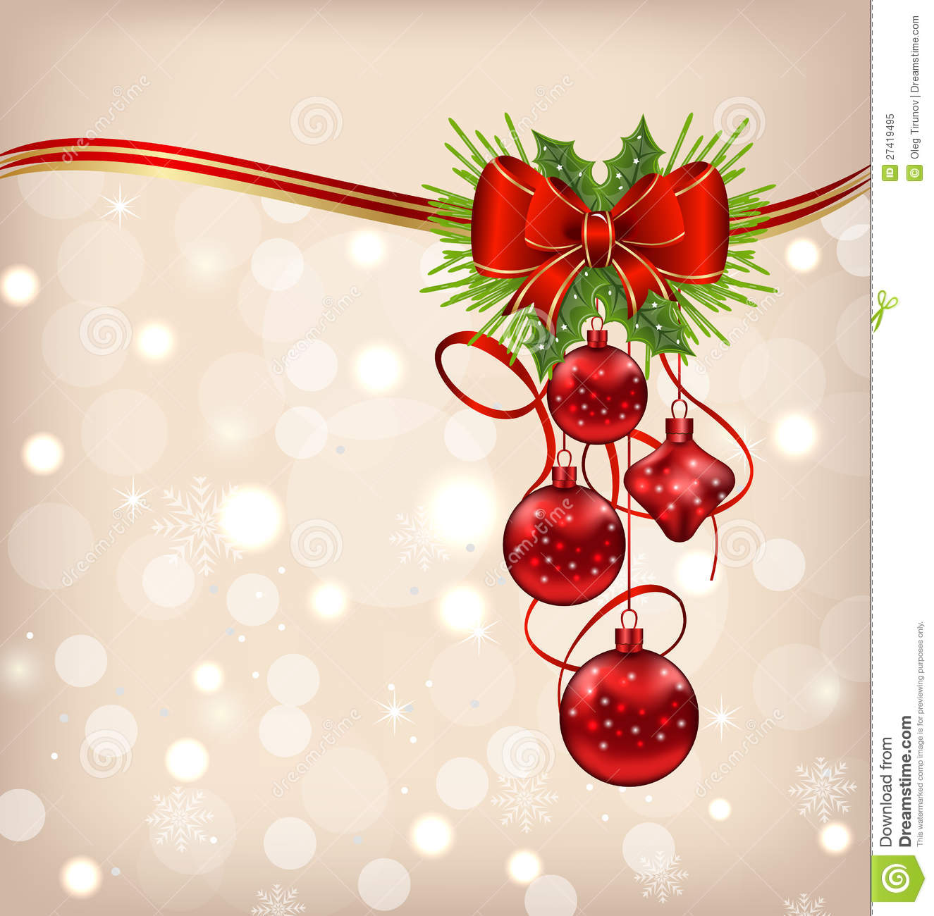 Elegant packing with christmas balls stock vector image