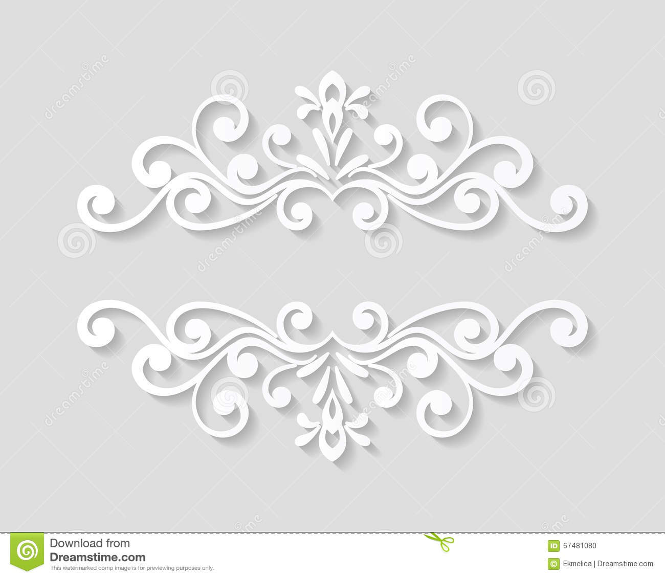 elegant paper retro floral border stock vector