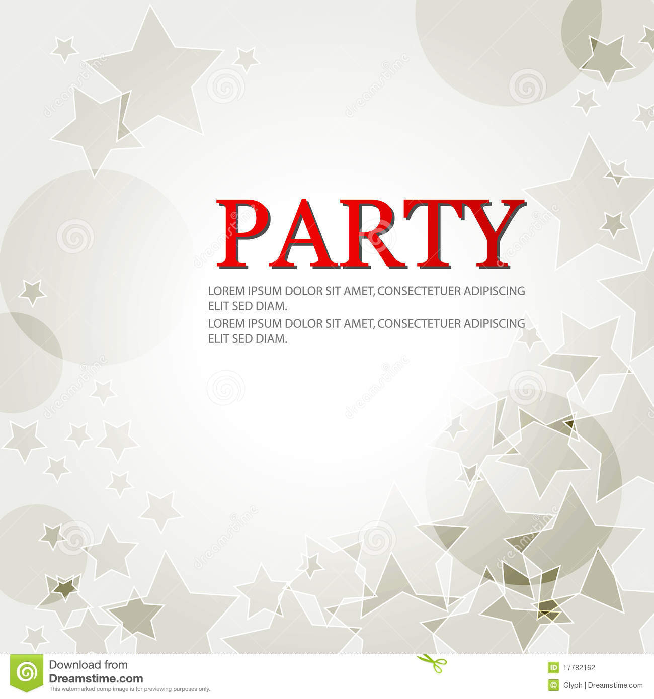 Elegant Party Background With Stars Stock Photography ...