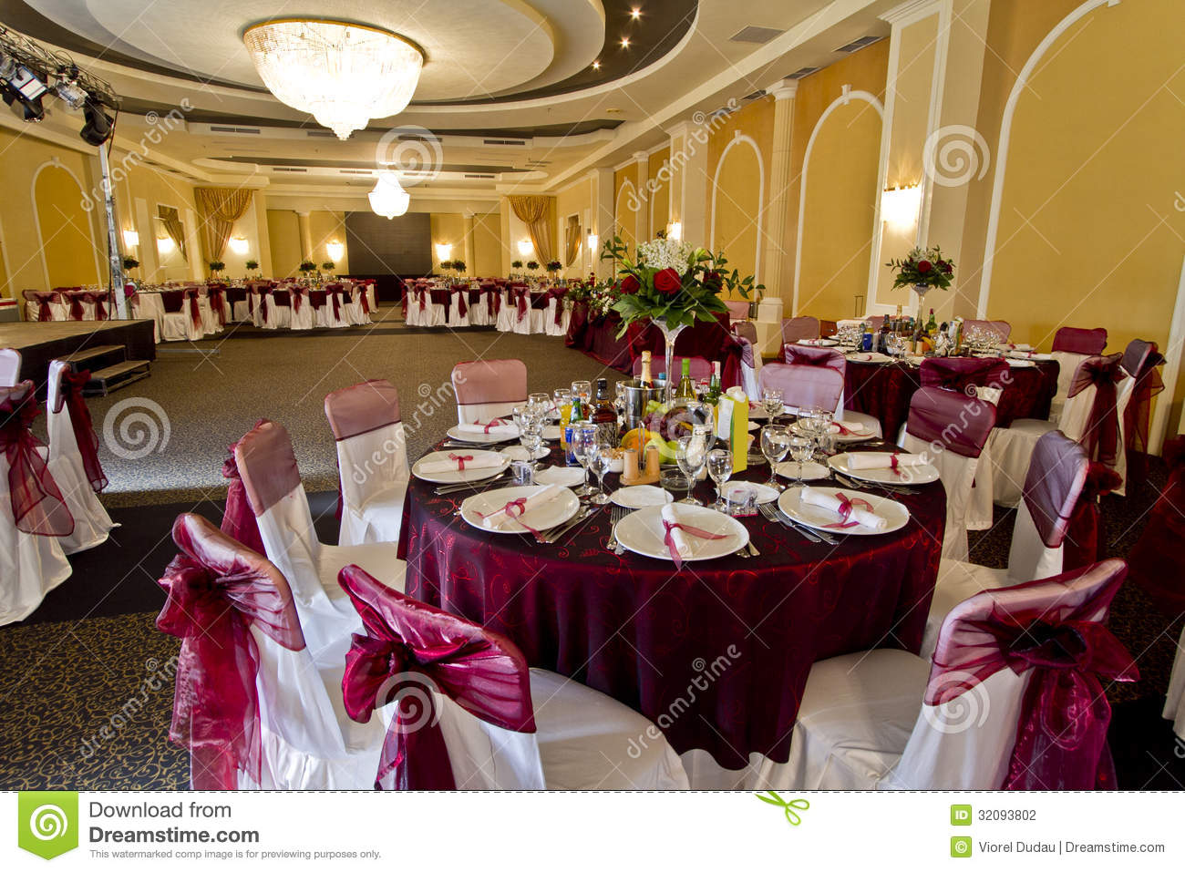 Elegant Party Hall Stock Photography Image 32093802