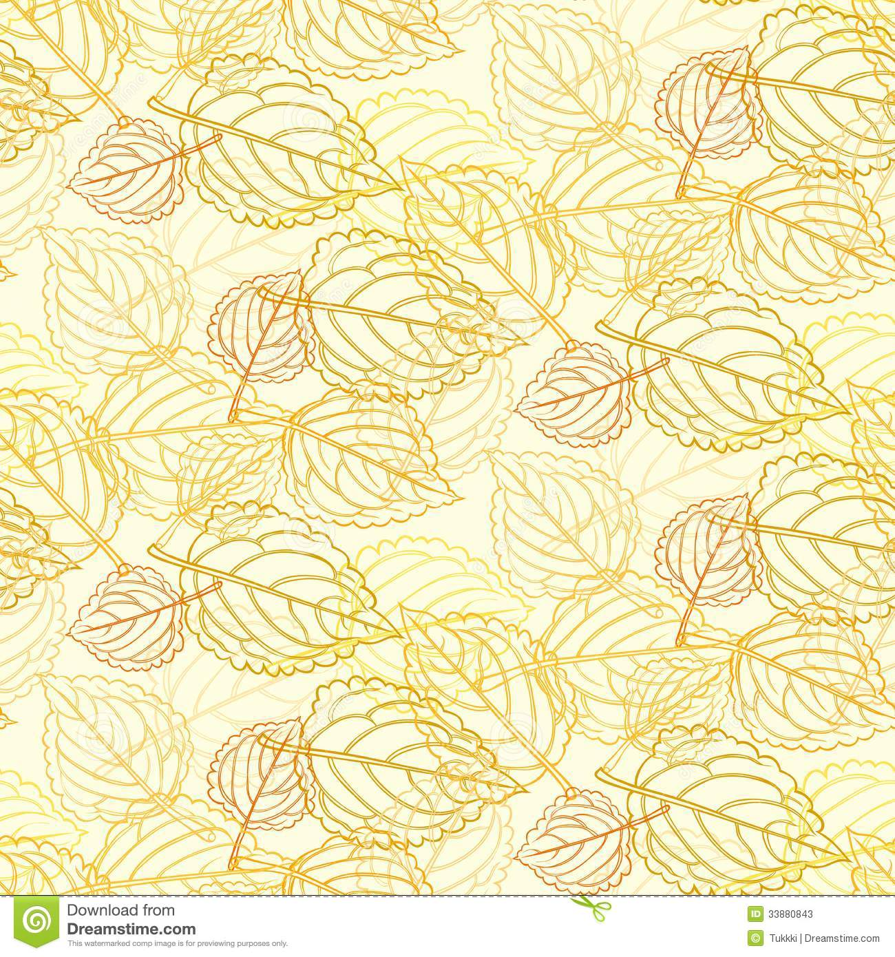 Elegant pattern with leafs drawn in thin lines stock for Simple elegant wallpaper