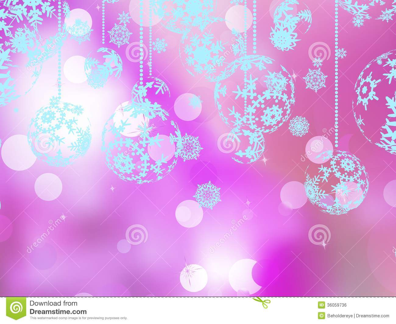 elegant pink christmas background stock vector