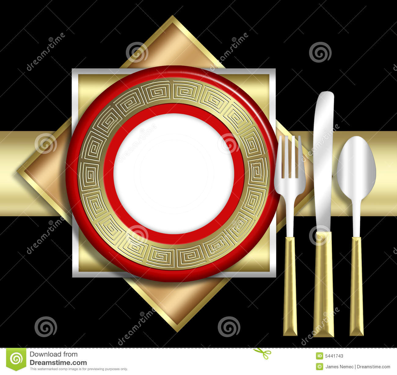 Elegant Place Setting Stock Photos Image 5441743