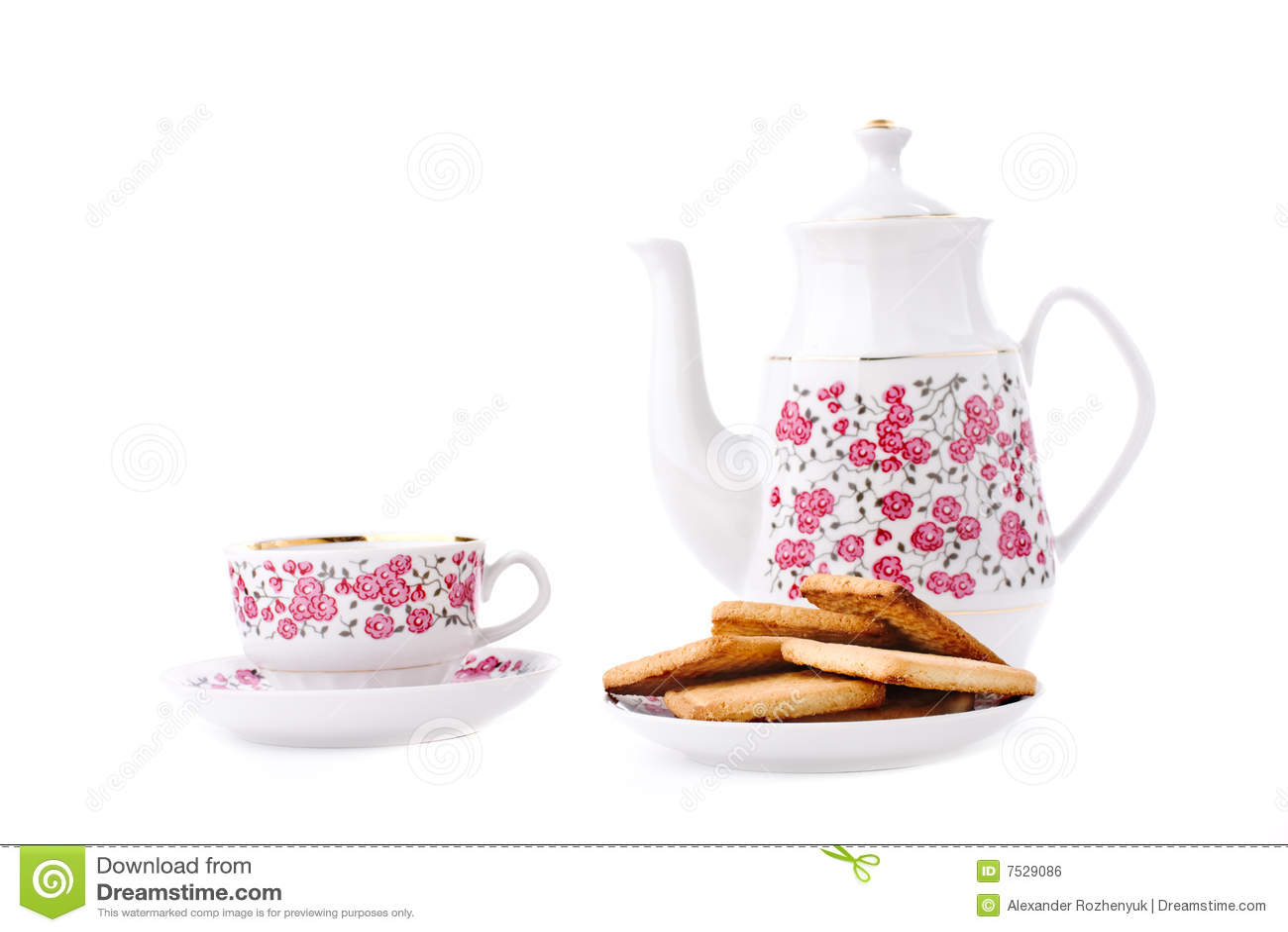 Elegant porcelain tea set