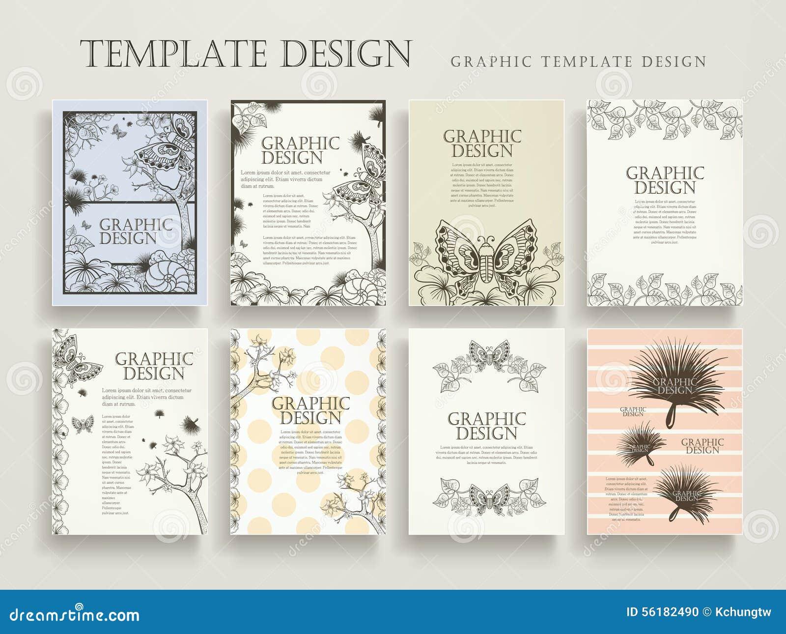 elegant poster template design stock vector illustration of cover