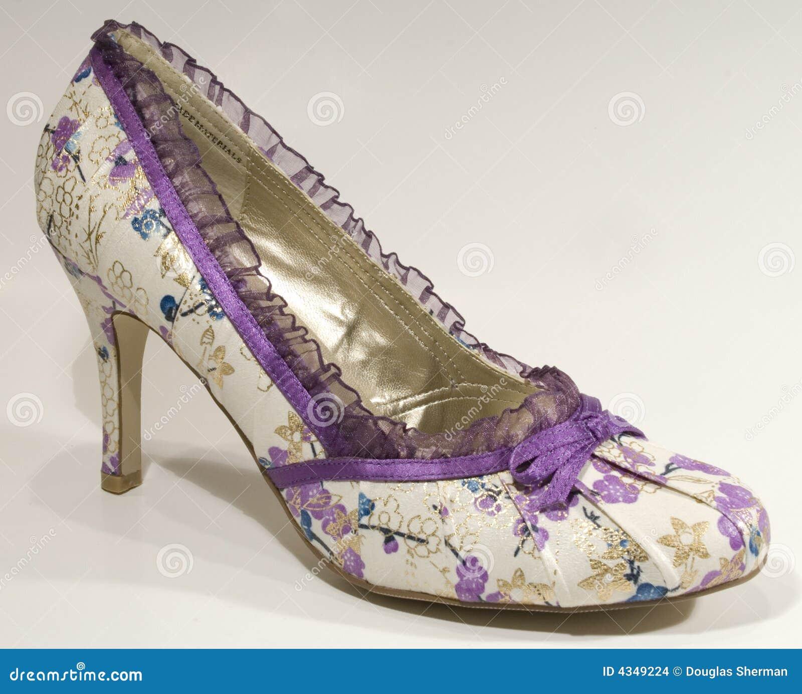 Elegant Purple Floral High Heel Shoe Stock Images - Image: 4349224