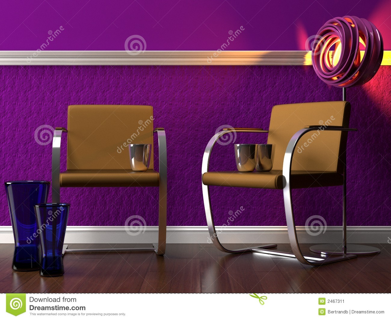 Elegant purple interior