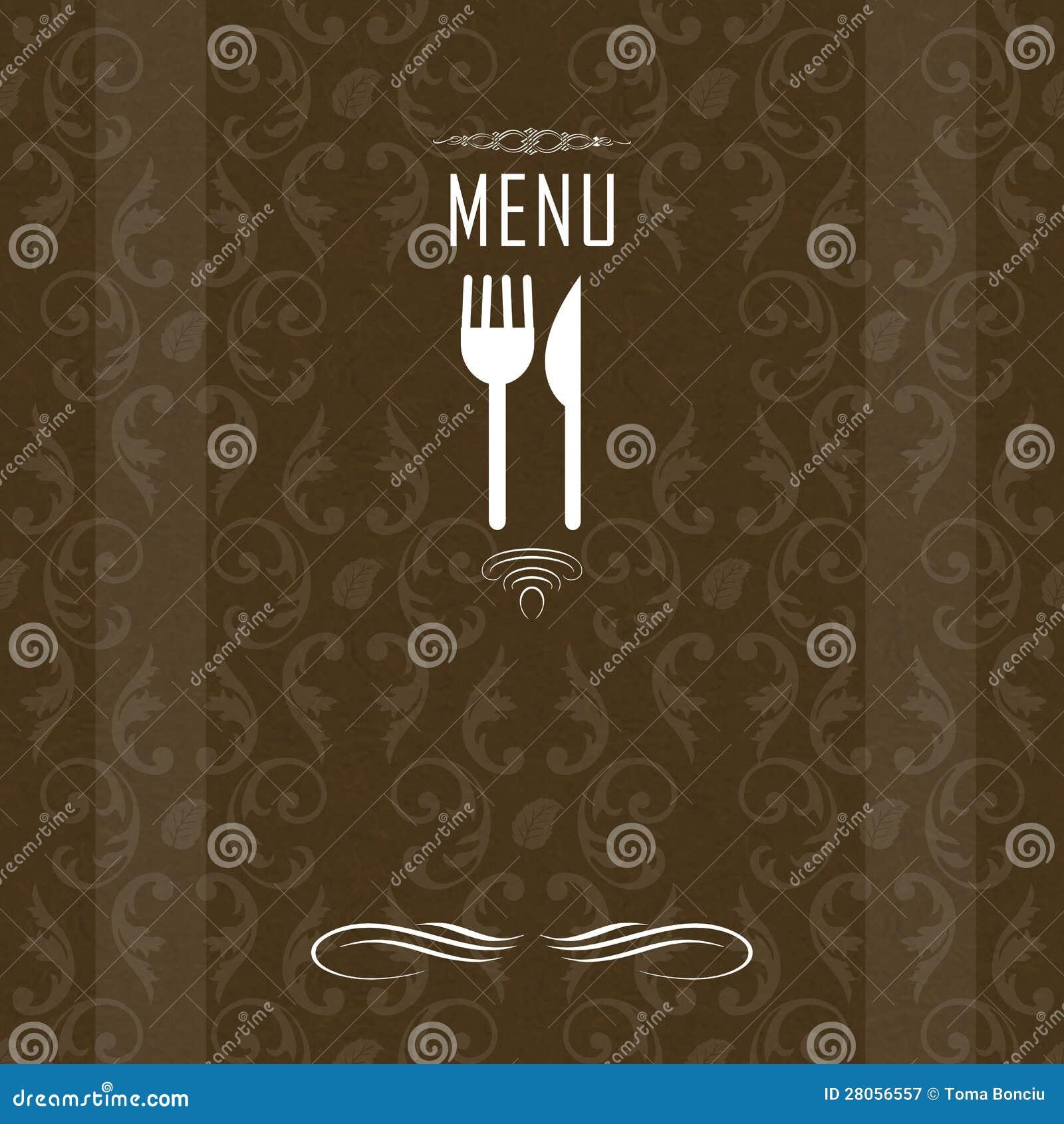 Elegant restaurant menu design stock illustration image
