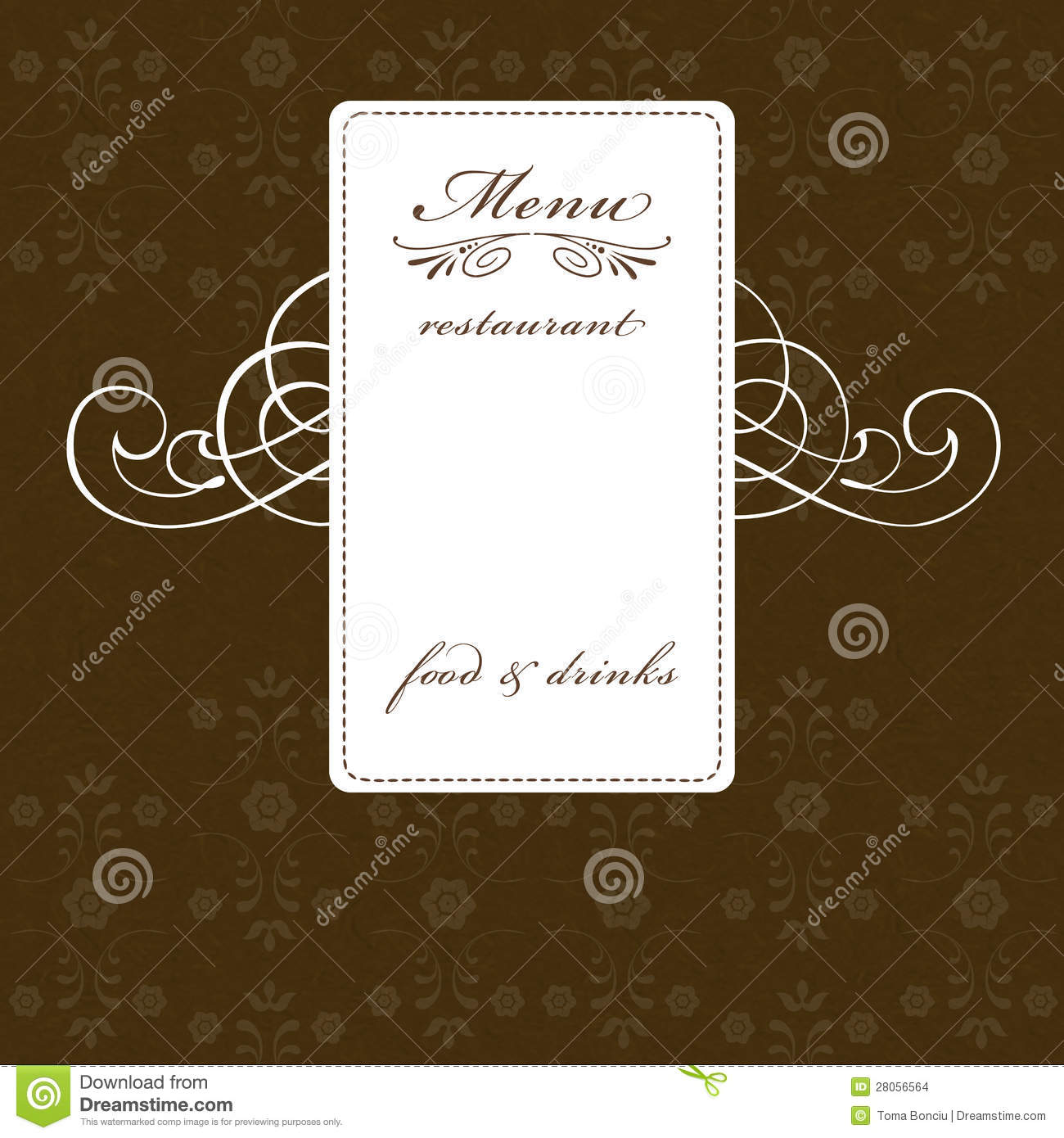 Elegant Restaurant Menu Design Stock Images Image 28056564