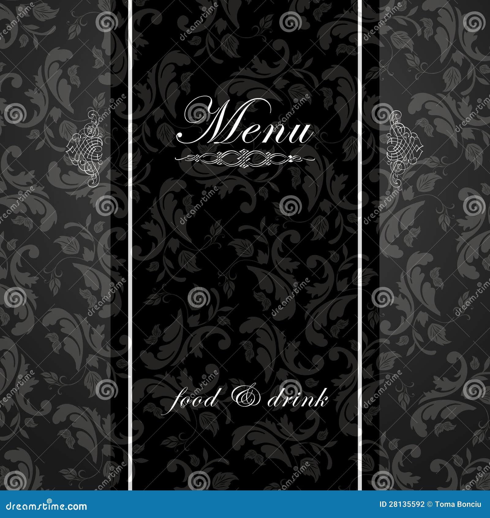 Elegant Restaurant Menu Design Stock Illustration Illustration Of Silver Gourmet 28135592