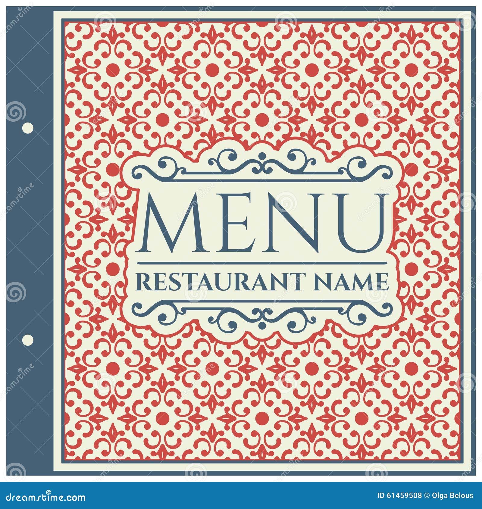 Elegant Restaurant Menu Design Vector Cartoondealer Com 61459508