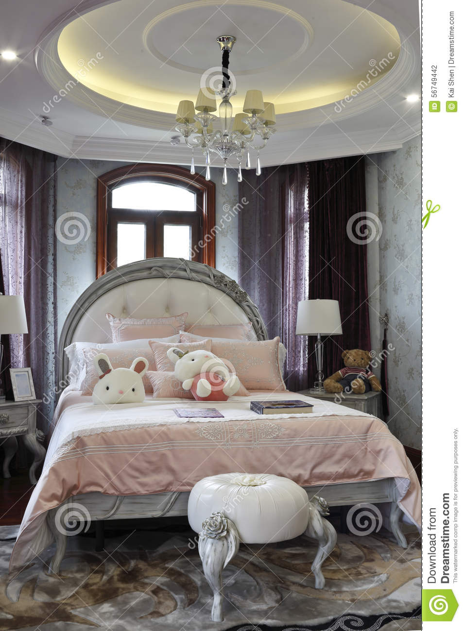 Elegant Romantic Bedrooms: Elegant And Romantic A Girl Bedroom Editorial Photography