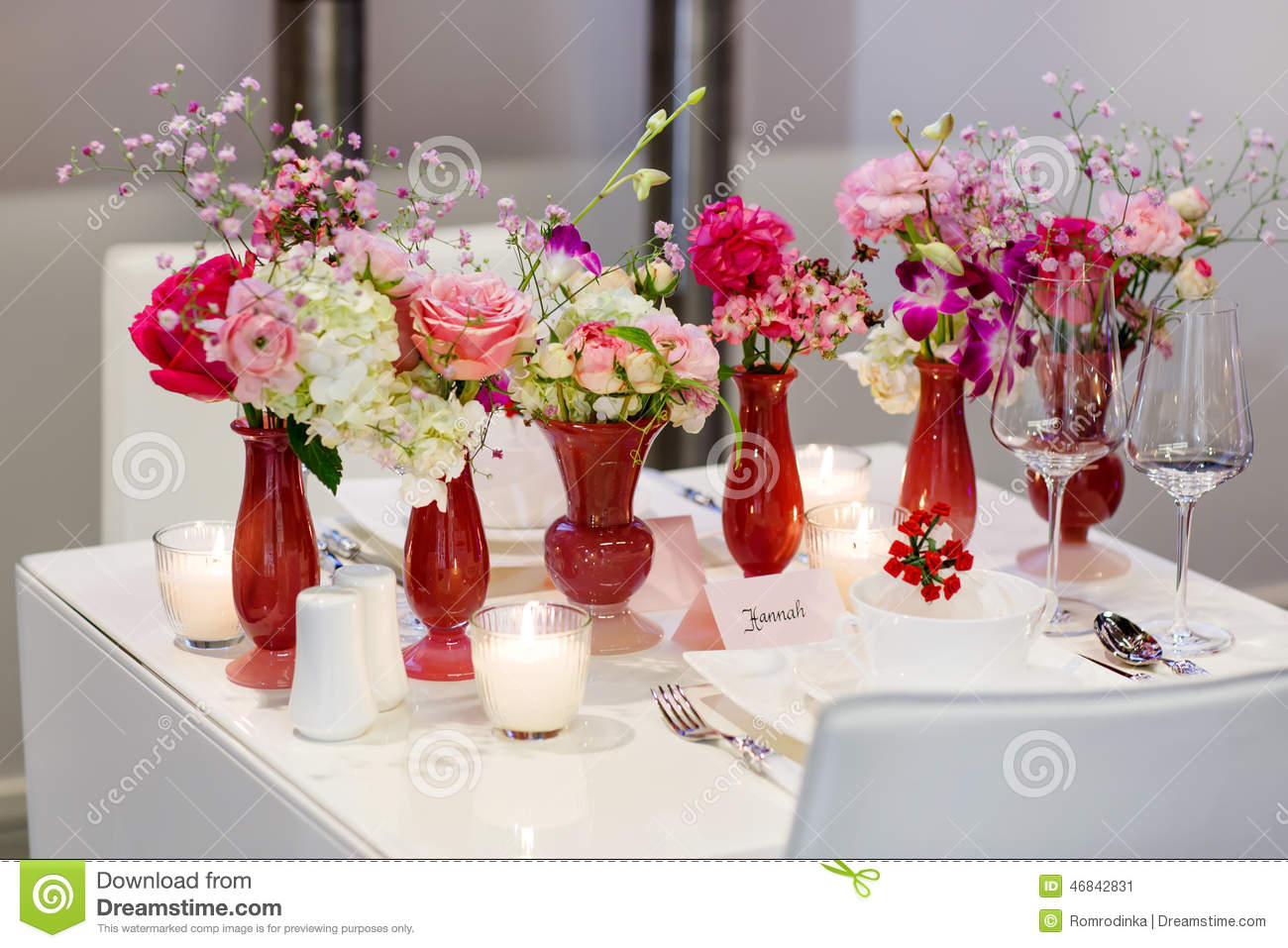 Elegant birthday table decorations - Elegant And Romantic Table Set Decoration For Wedding Or Event P