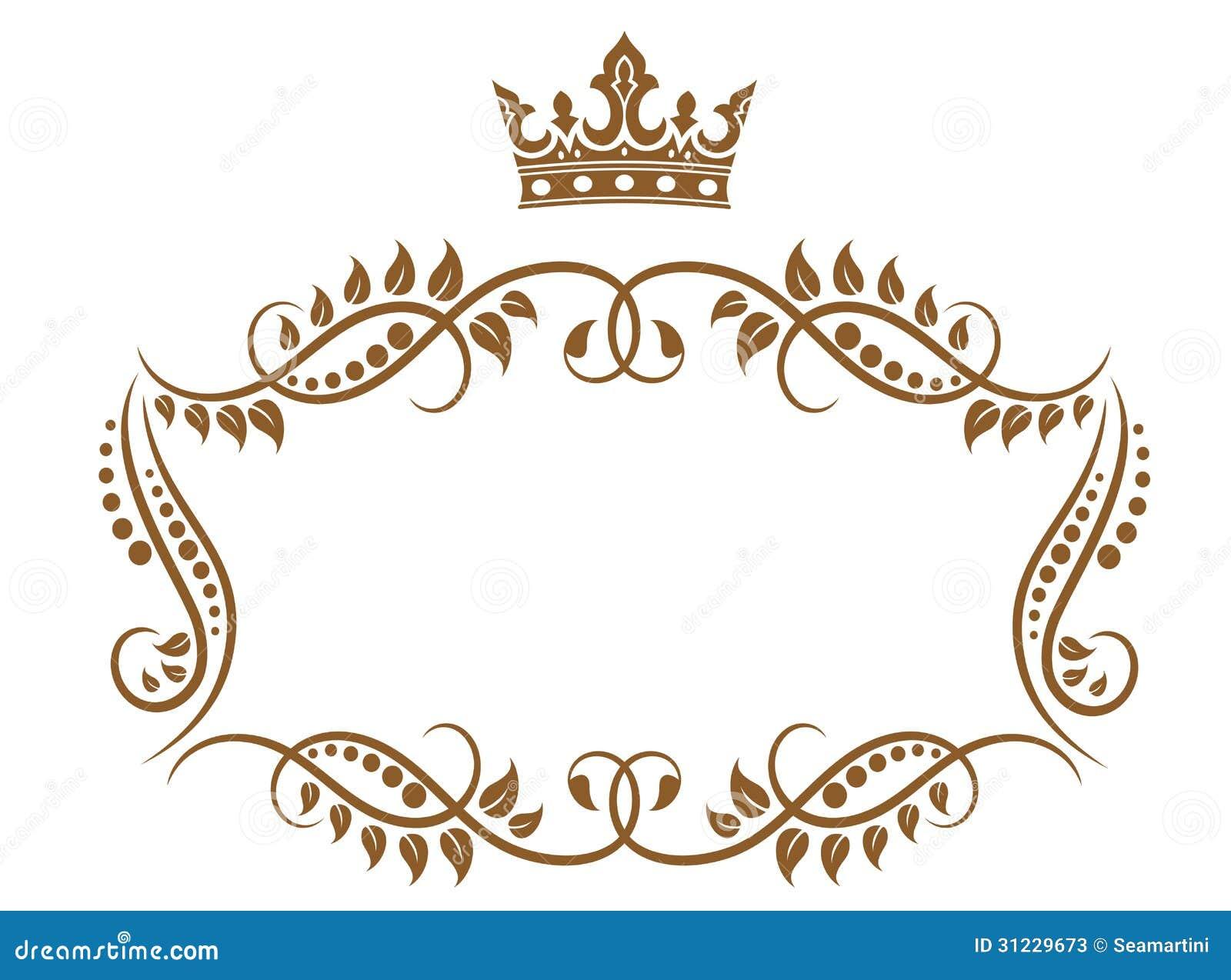 Elegant Royal Medieval Frame Stock Vector Illustration Of Border
