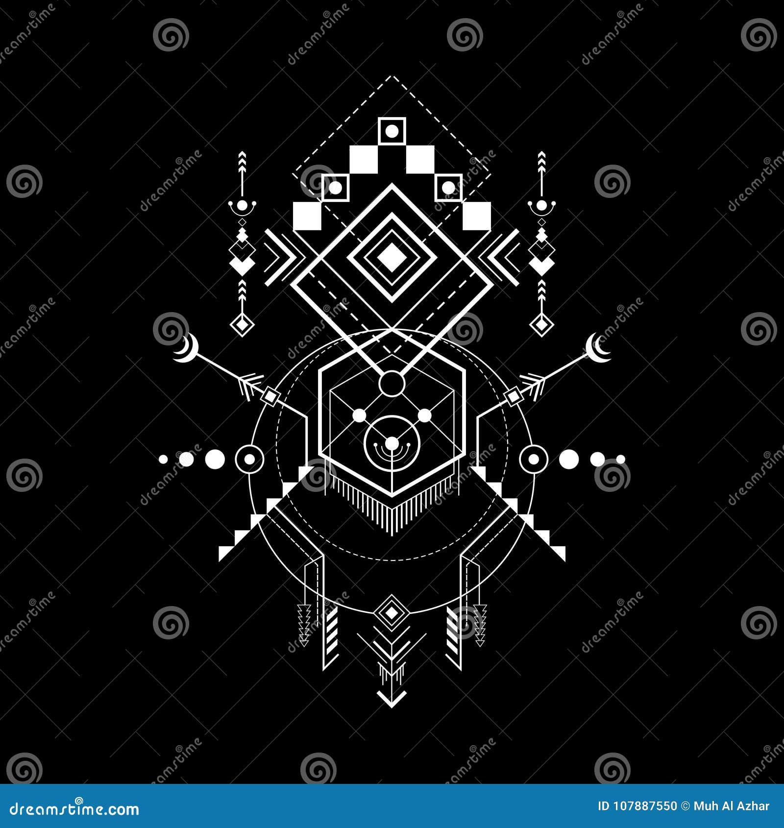 sacred geometry navajo art stock vector illustration of abstract