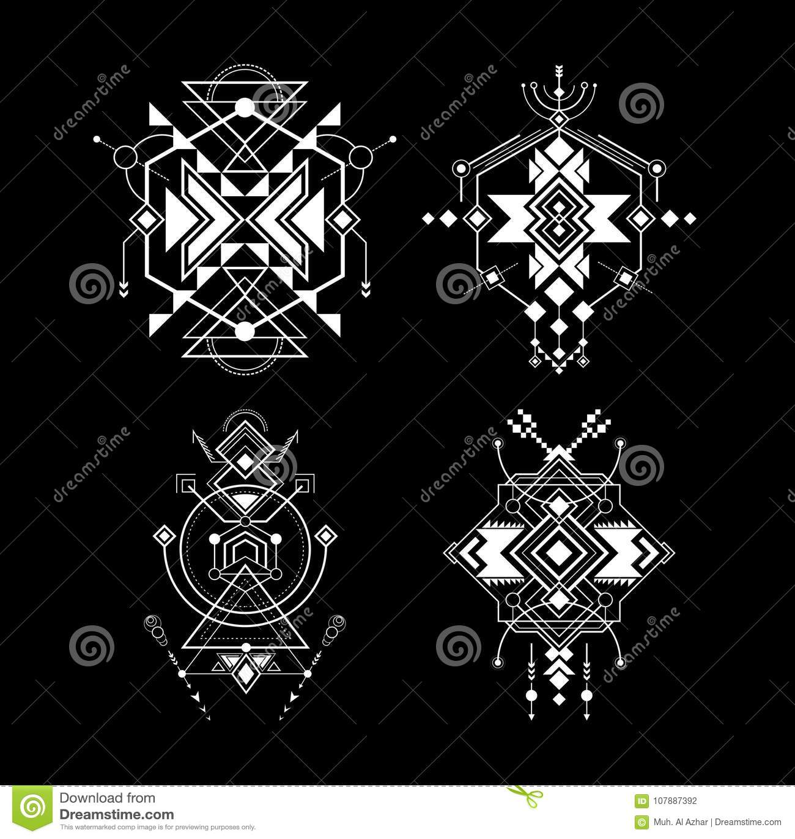 sacred geometry navajo art stock vector illustration of elegant