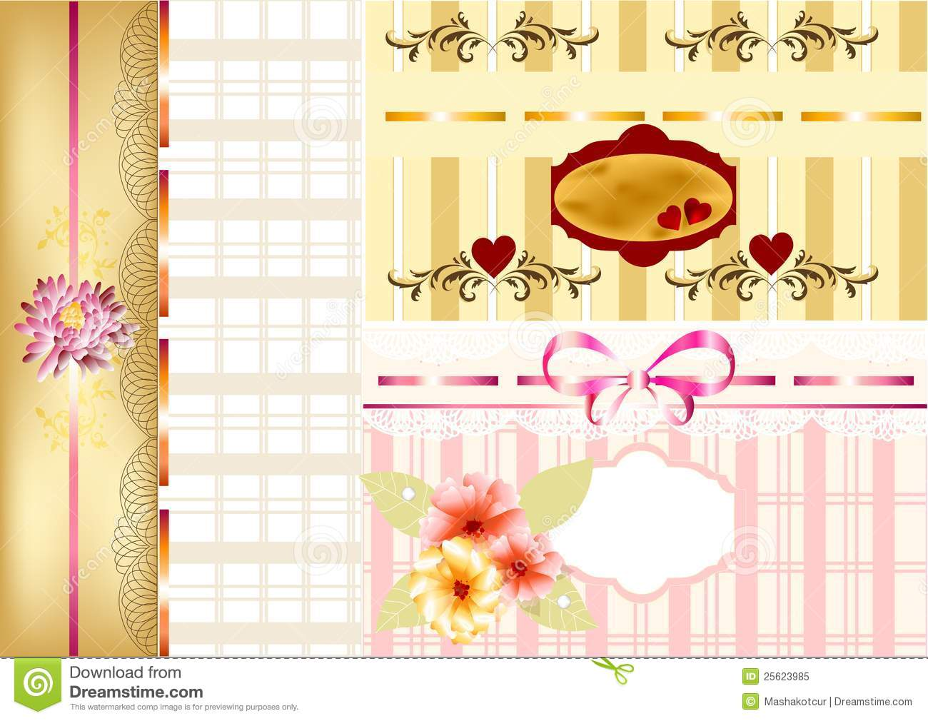 How to scrapbook greeting cards - Elegant Scrapbooking Set Or Greeting Cards