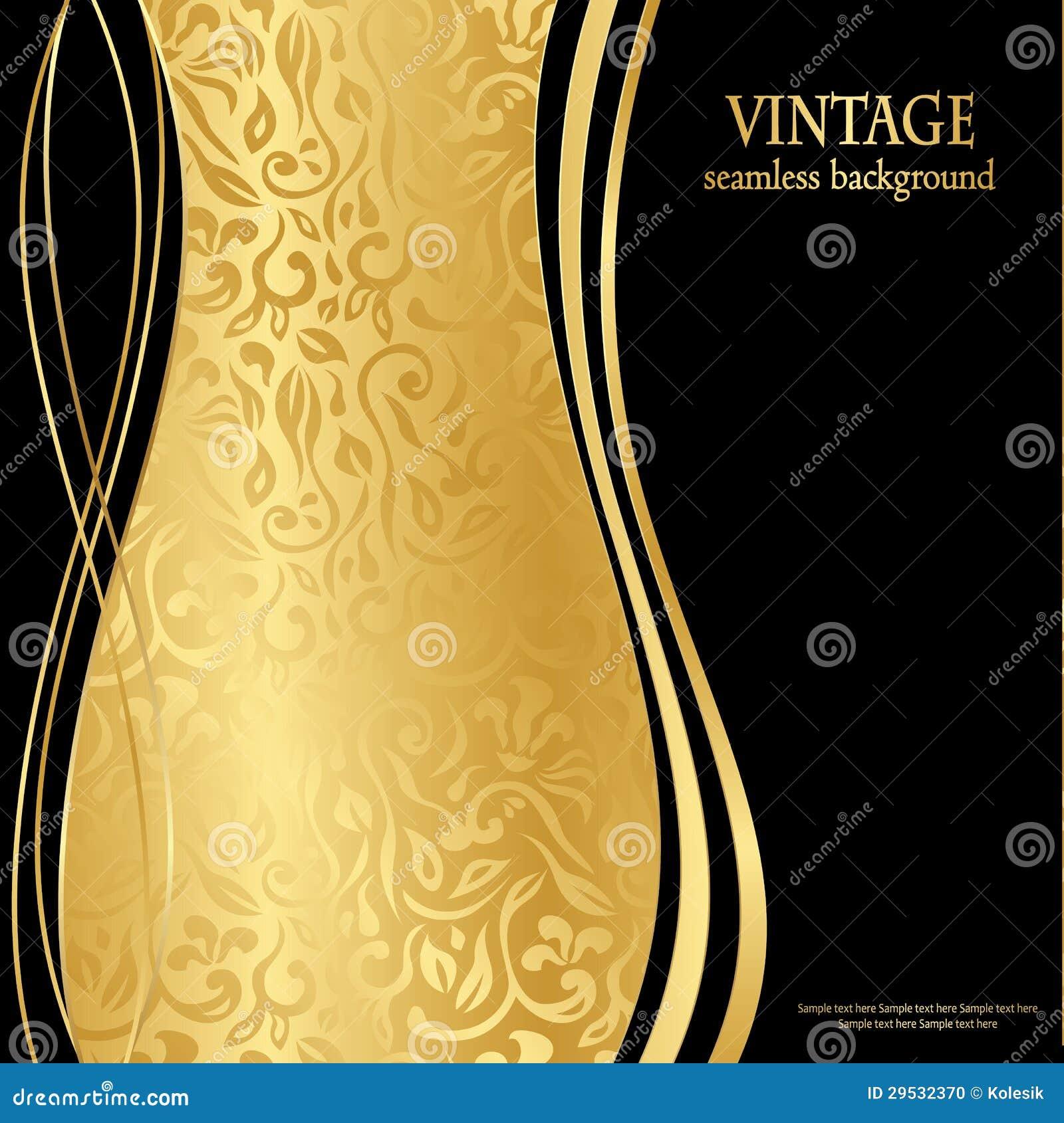 Elegant Seamless Gold Wallpaper Stock Vector Illustration