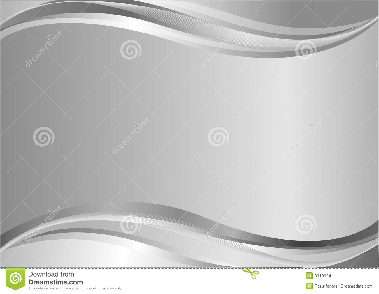 elegant silver background with waves stock vector