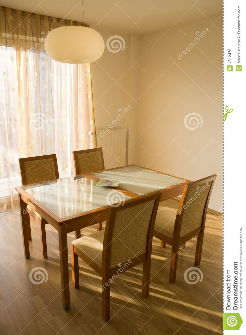 Elegant simple table and chairs royalty free stock photos image