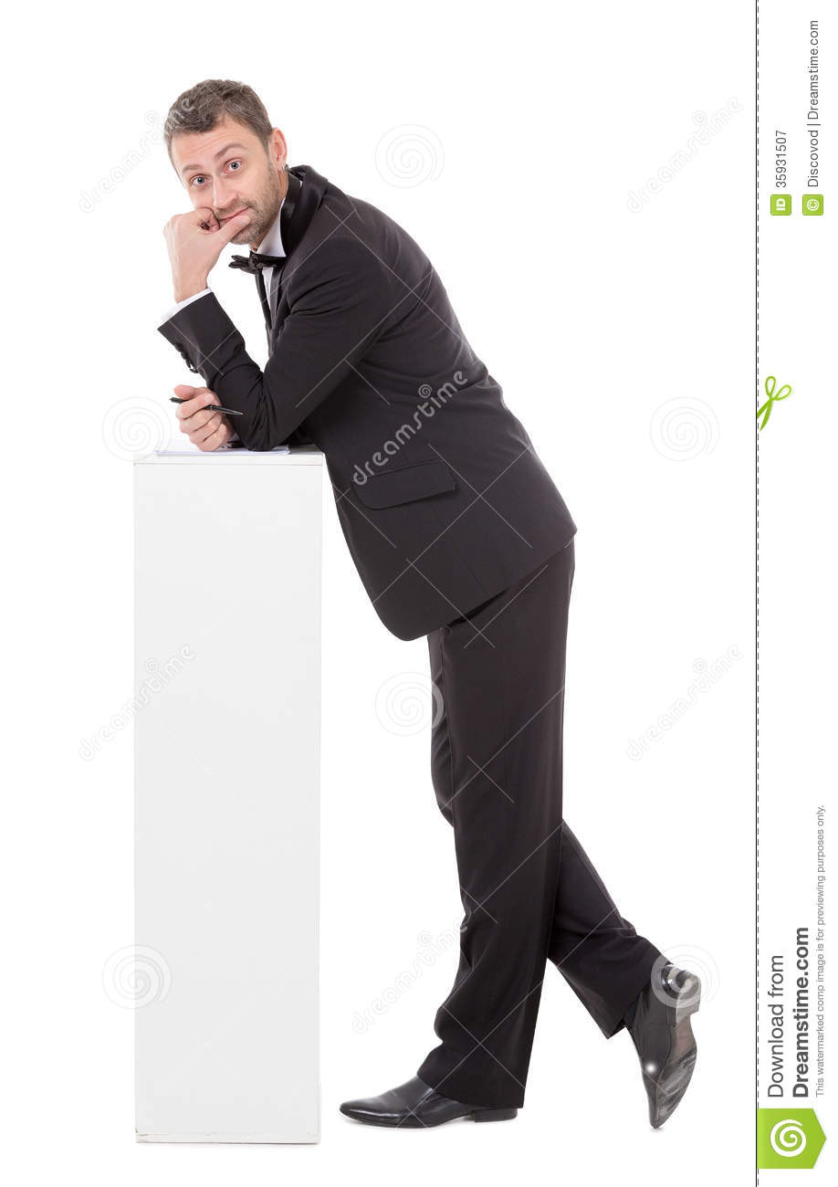 Elegant Slender Man With A Quizzical Expression Stock Image Image