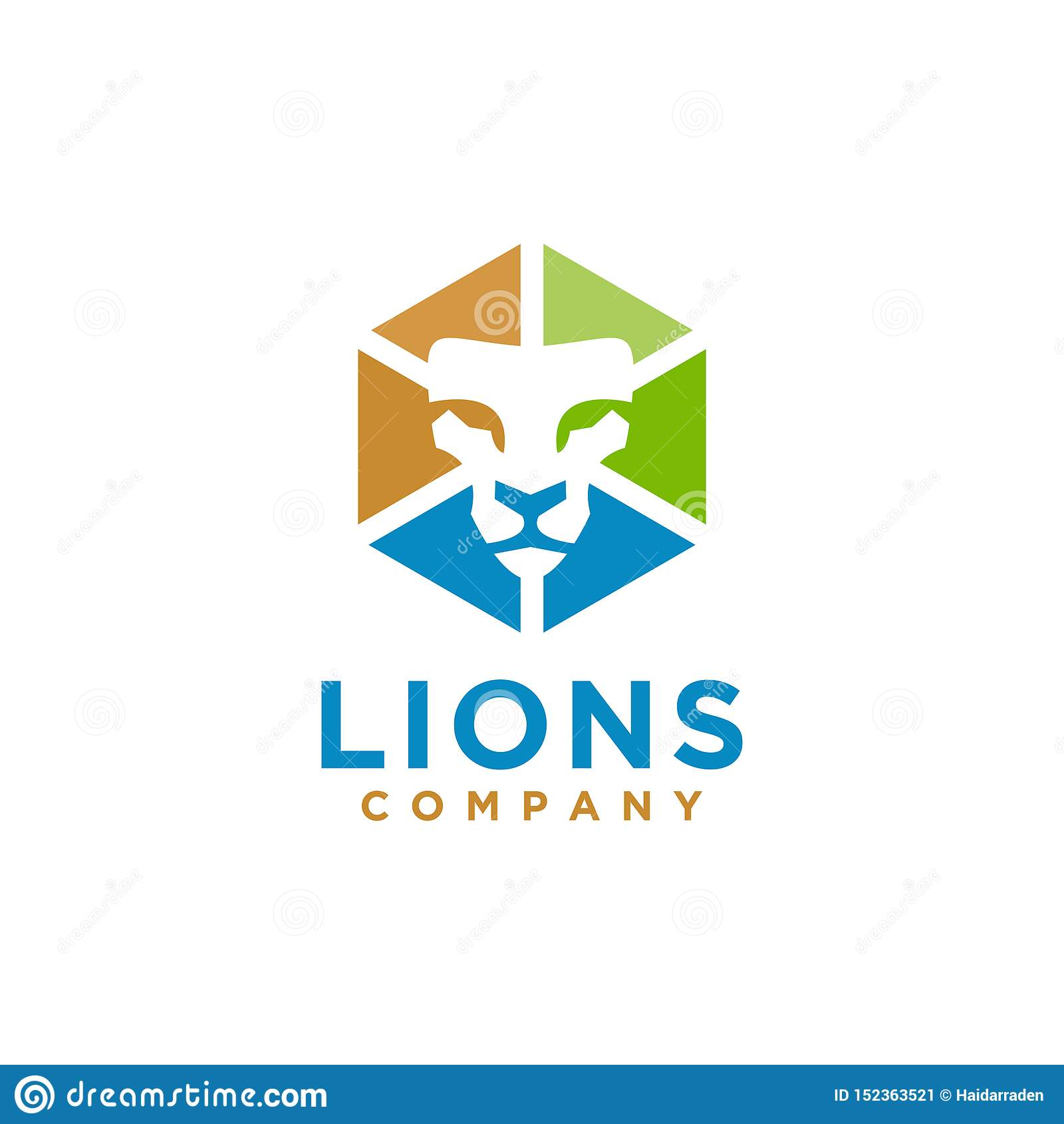Elegant stil för Lion Logo design