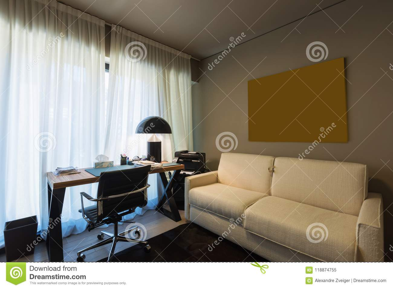 Stupendous Elegant Study With Desk Stock Image Image Of Luxury 118874755 Pabps2019 Chair Design Images Pabps2019Com