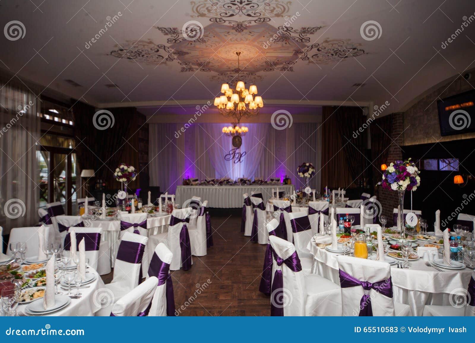 Elegant And Stylish Purple Color Wedding Reception At Luxury