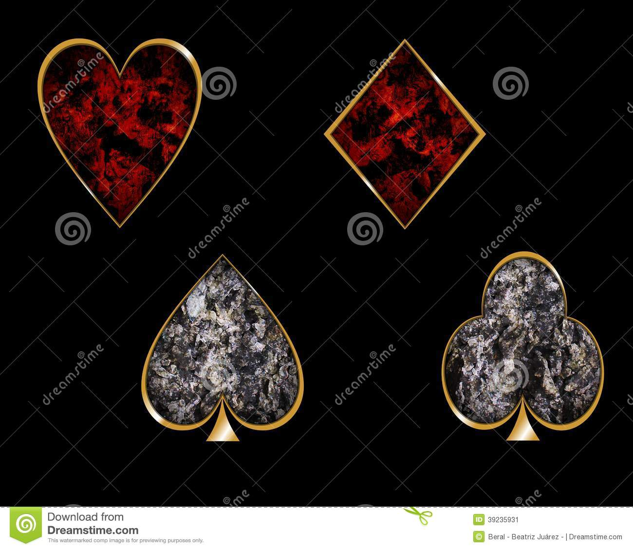 Playing Cards Symbols Stock Photo Image 39235931