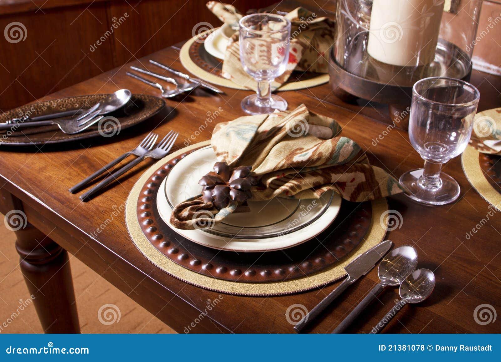 Elegant Table Place Setting Royalty Free Stock Photos