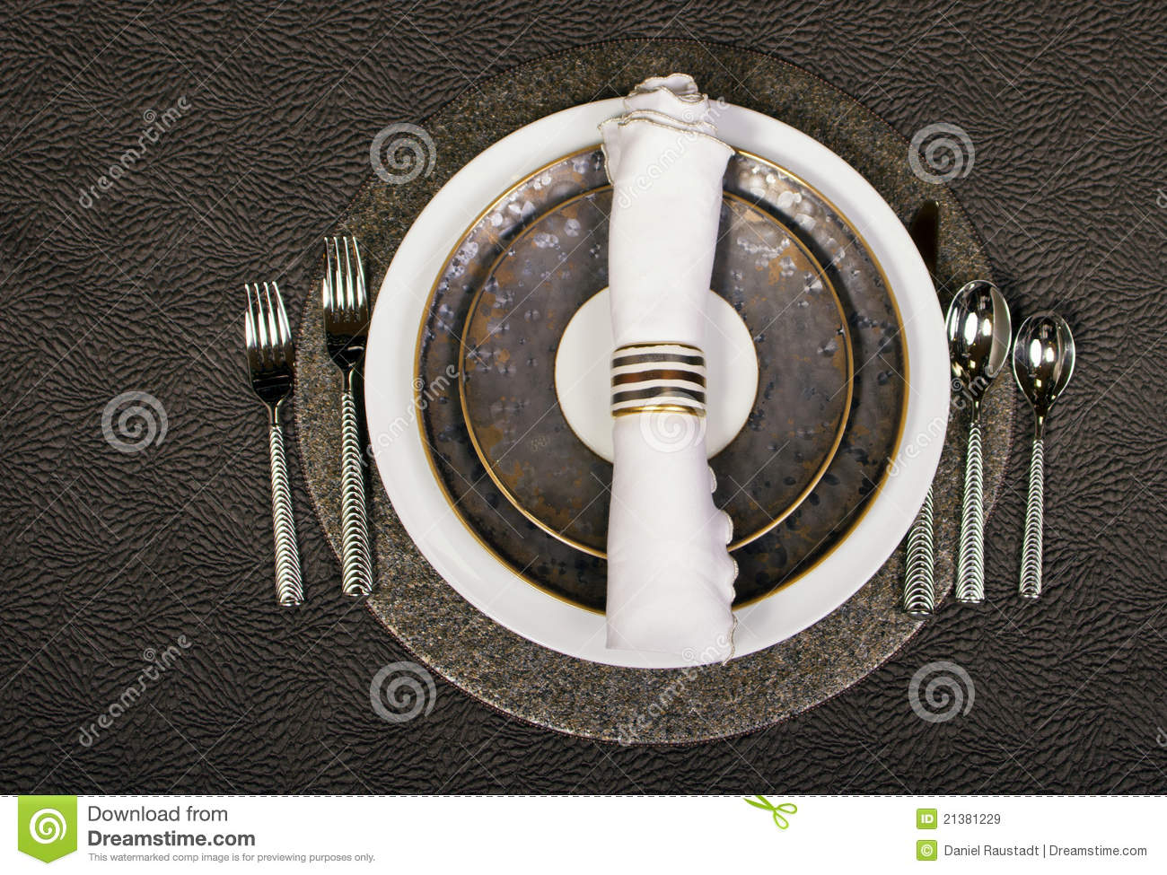 Elegant Table Place Setting Stock Image Image 21381229