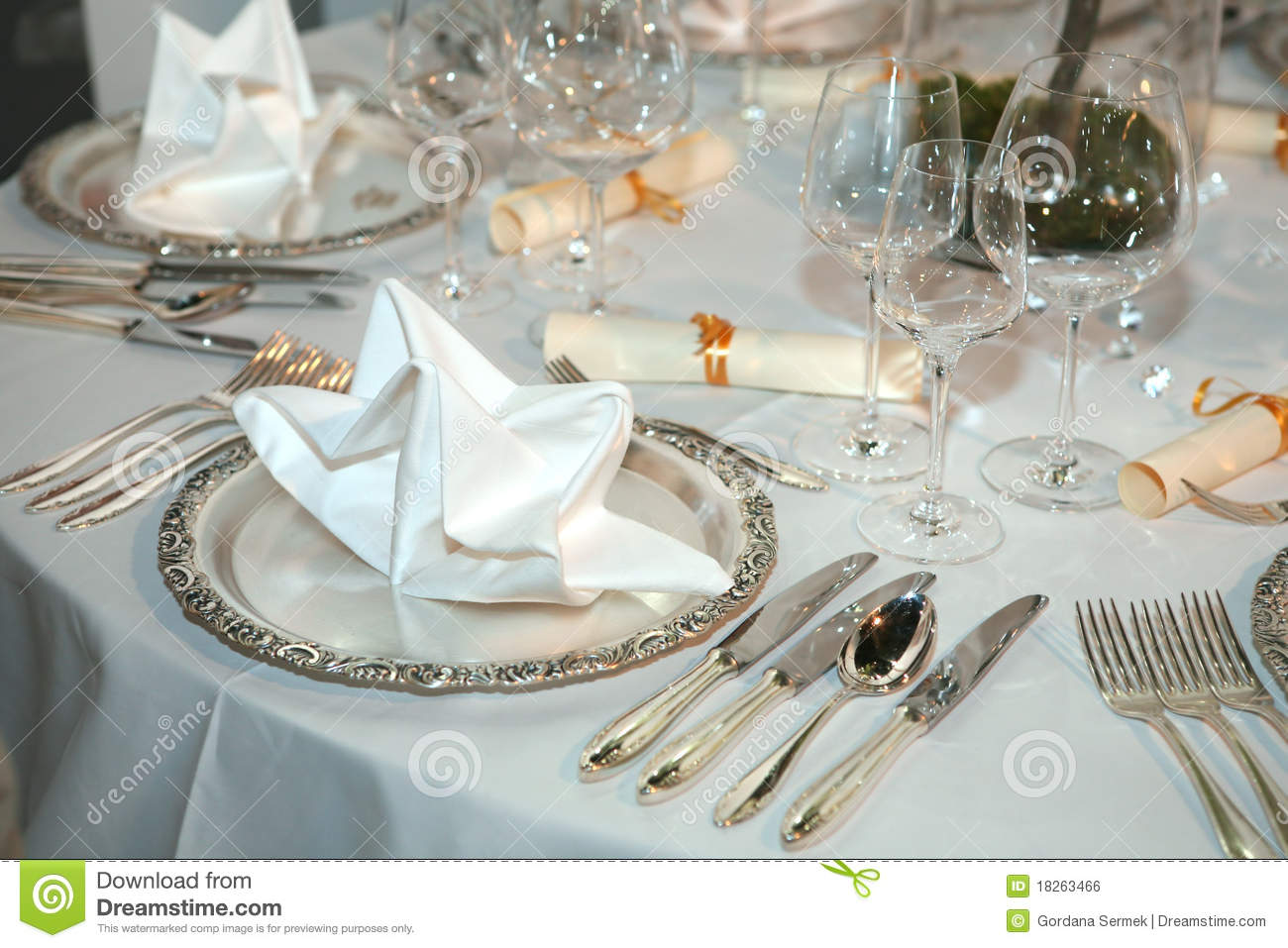 Elegant Table Setting Royalty Free Stock Image Image