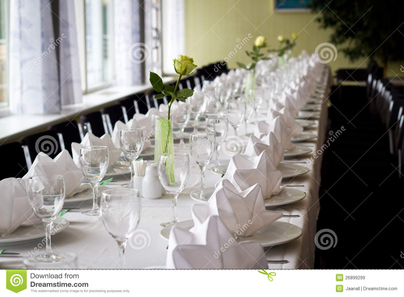 Elegant Table Setting Stock Image Image Of Vacation