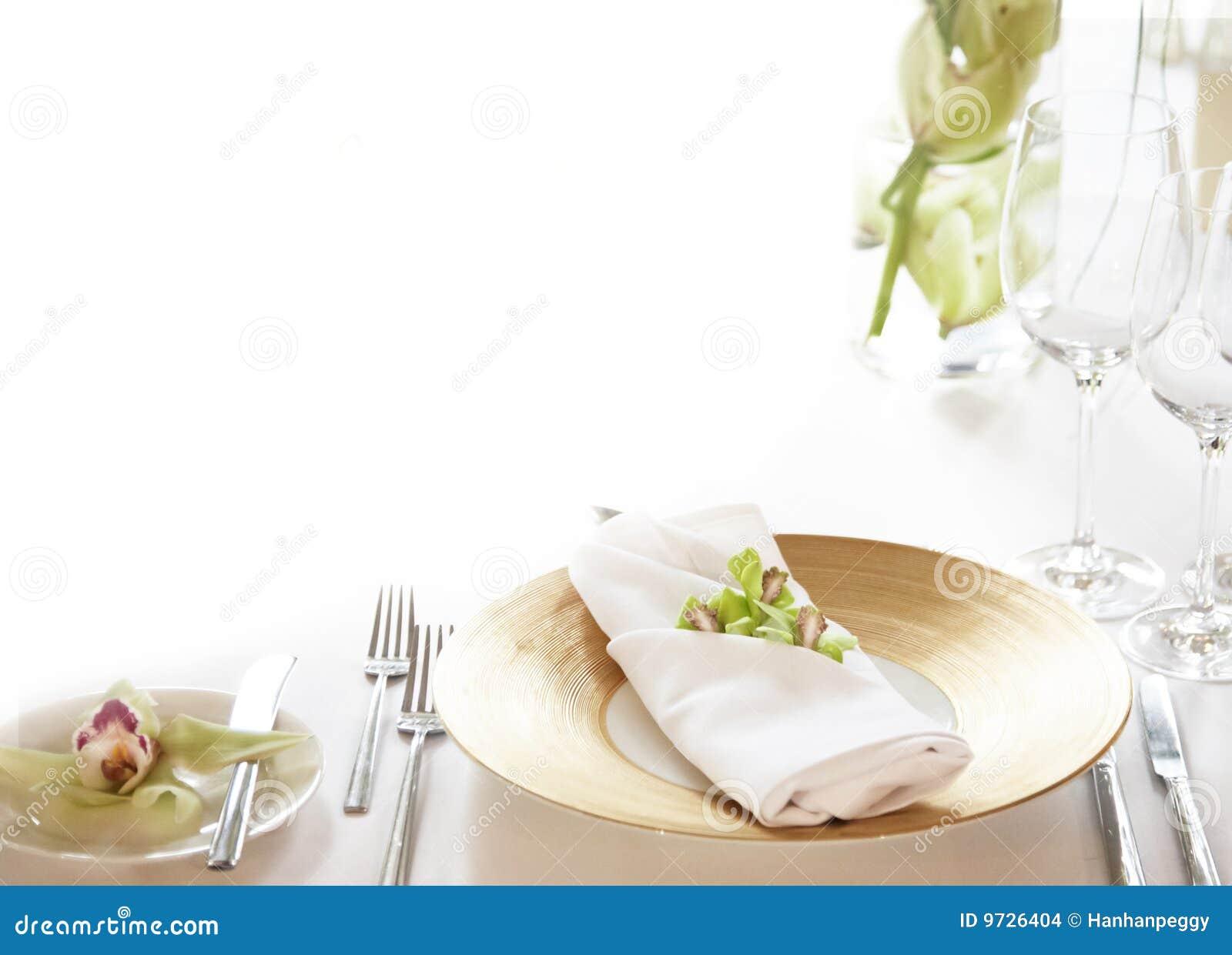 Elegant table setting background