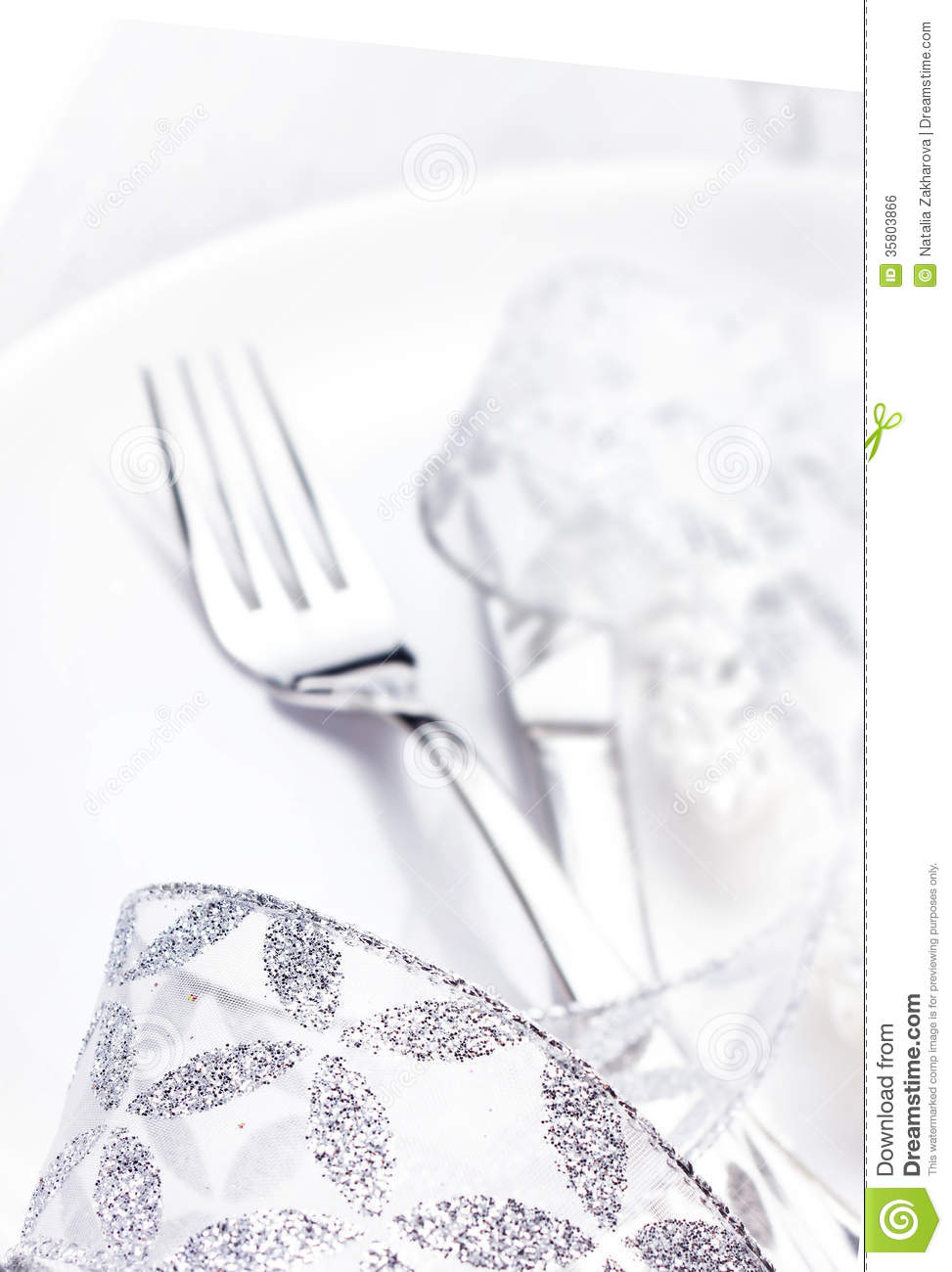 Table Setting Background elegant table setting place with festive decorations on white pl