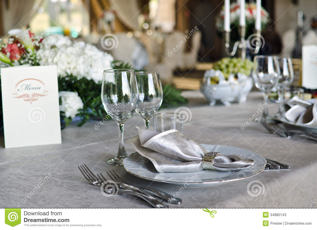 Elegant table setting stock photos image 34880143 for On the table restaurant
