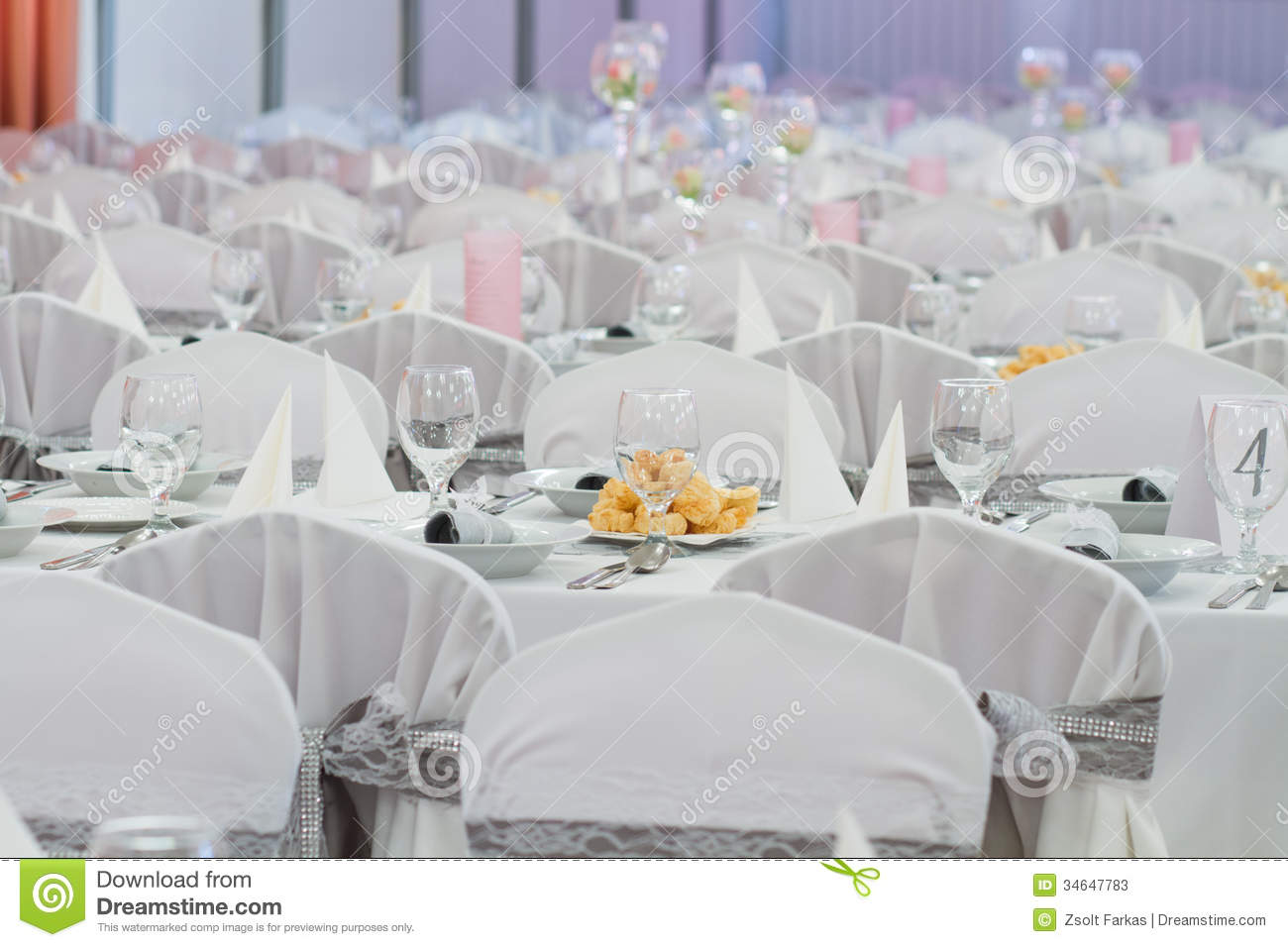Elegant Table Setting For Wedding Stock Photos Image