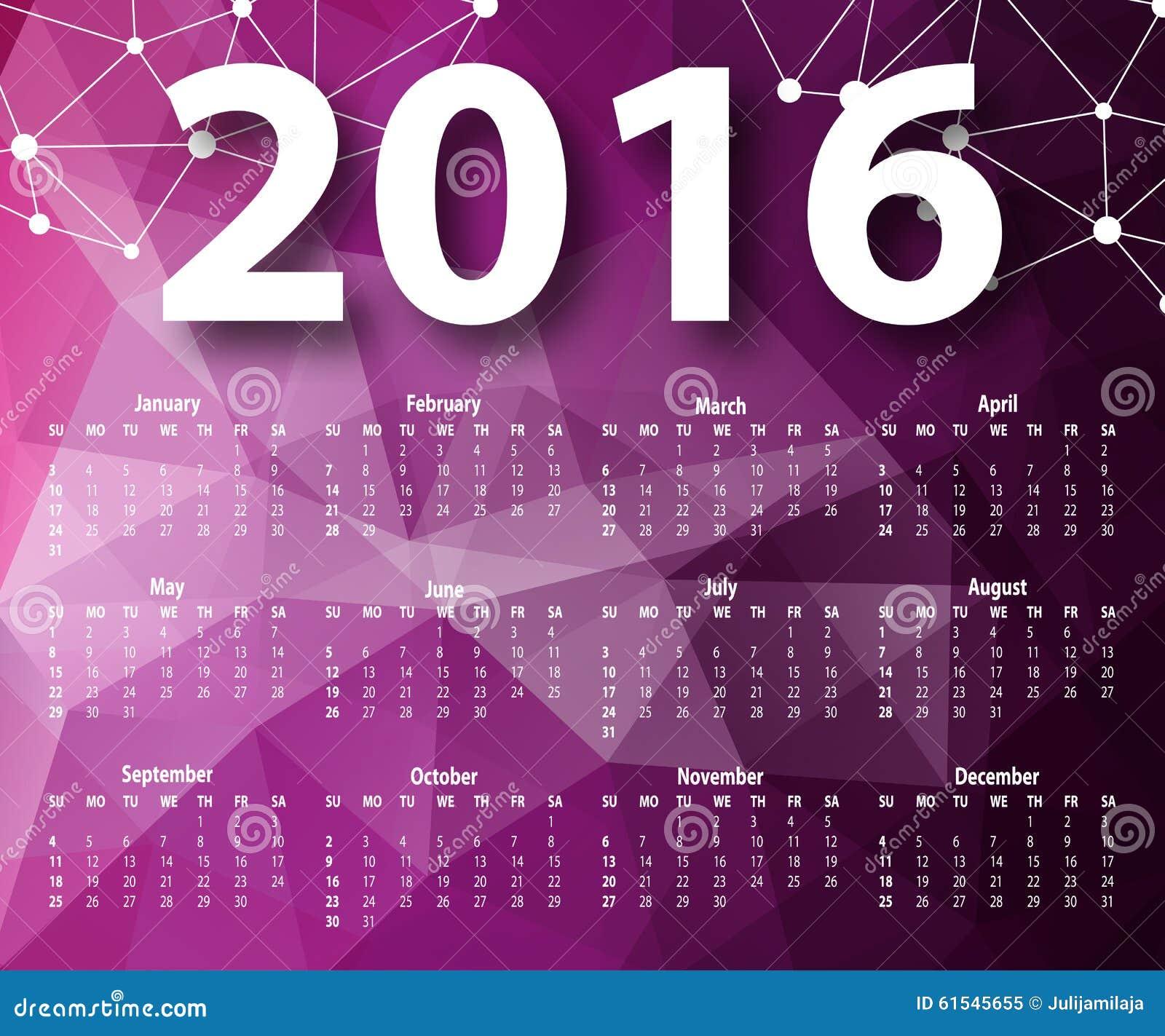 Calendar Design Elegant : Elegant template for calendar stock photo image