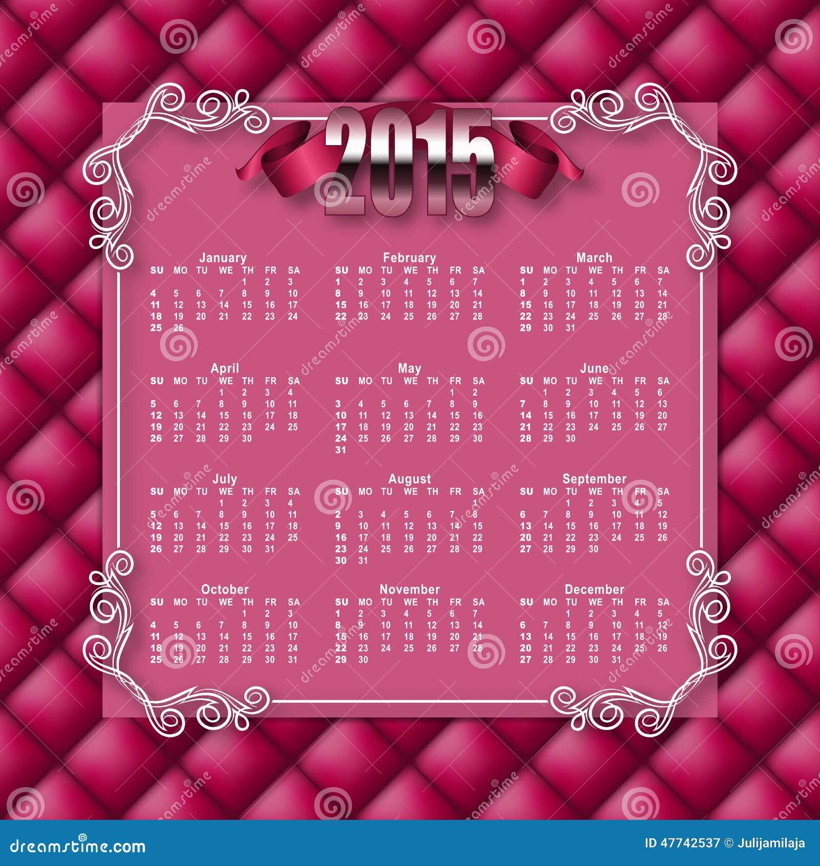 Elegant Template Of Calendar Stock Image Image Of Graphic
