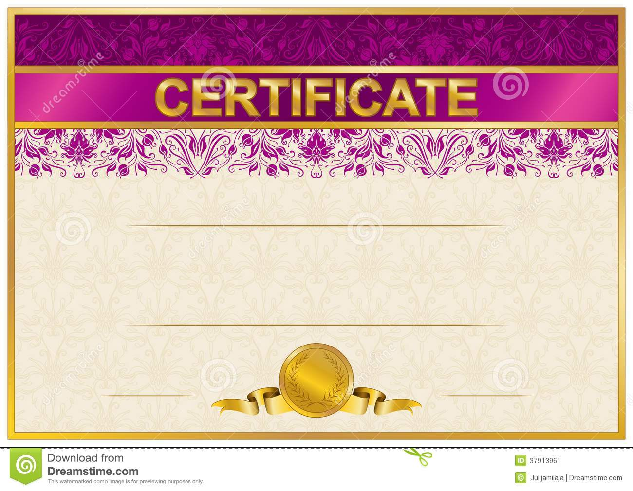 Elegant template of certificate diploma stock vector illustration elegant template of certificate diploma yelopaper Image collections