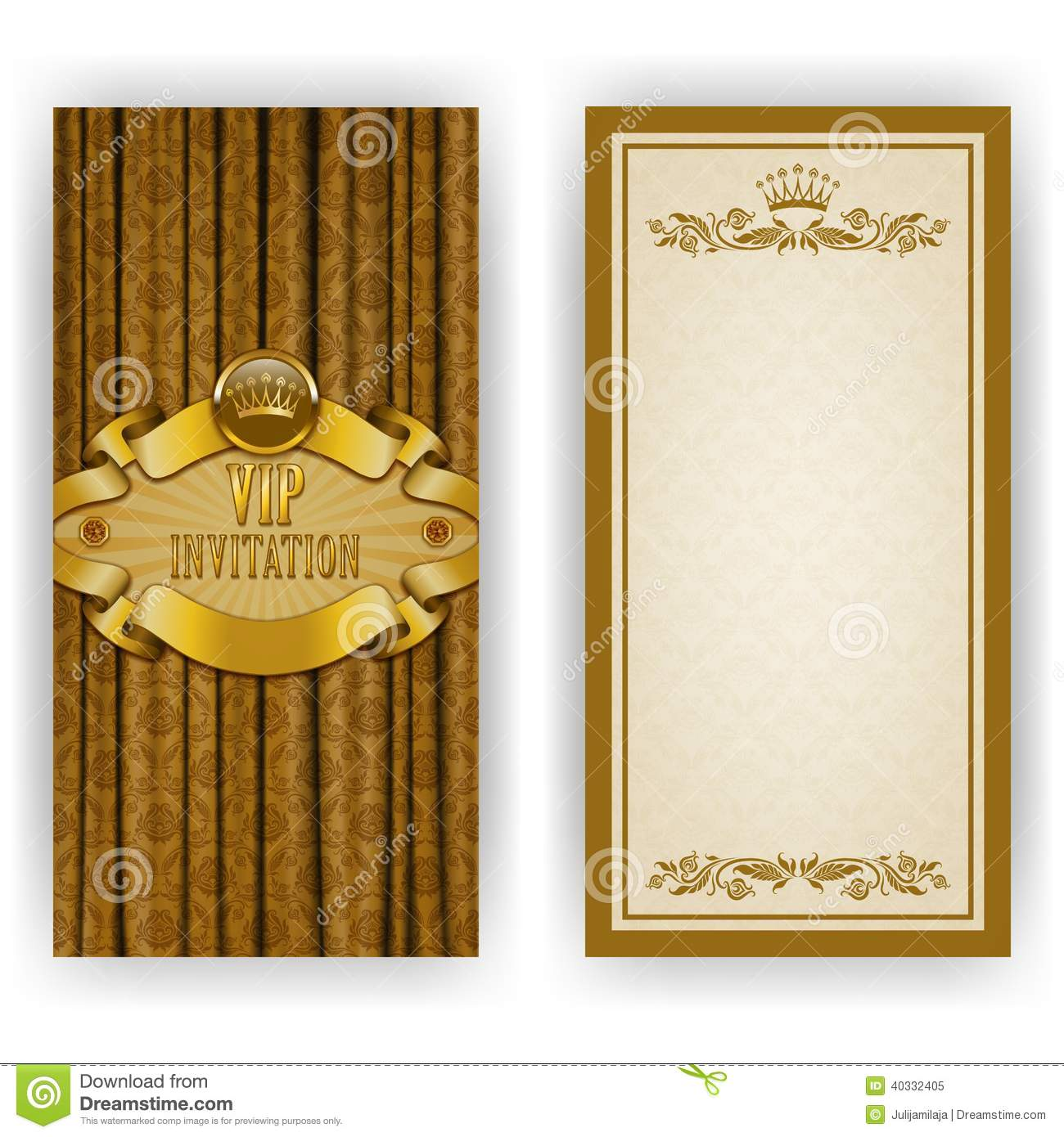 Elegant template for vip luxury invitation stock vector image elegant template for vip luxury invitation stopboris Image collections