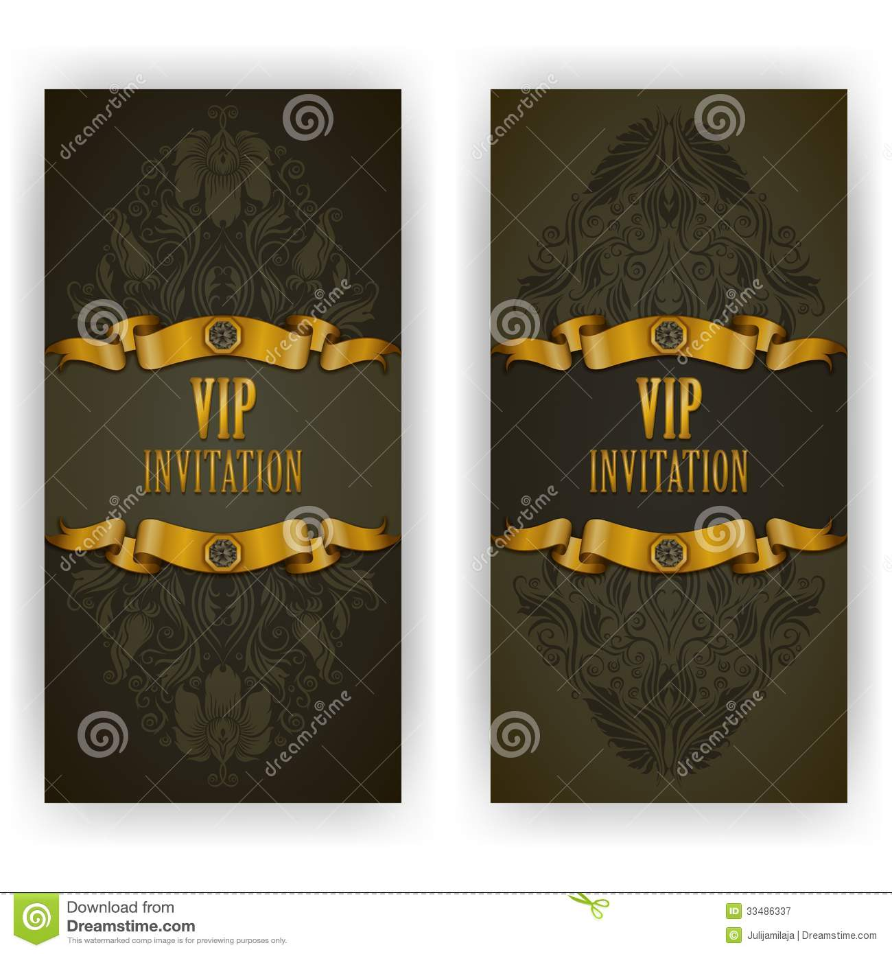 Elegant Template For Vip Luxury Invitation Royalty Free