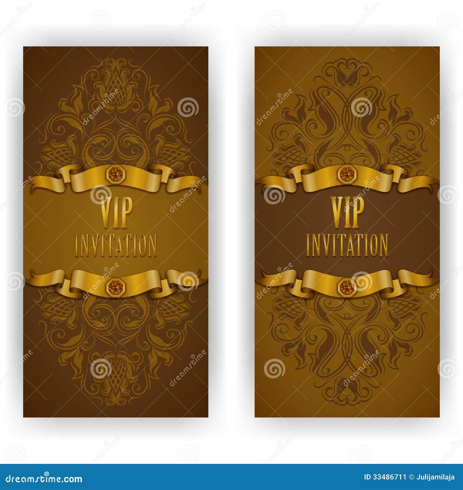 elegant template for vip luxury invitation stock image image 33486711. Black Bedroom Furniture Sets. Home Design Ideas