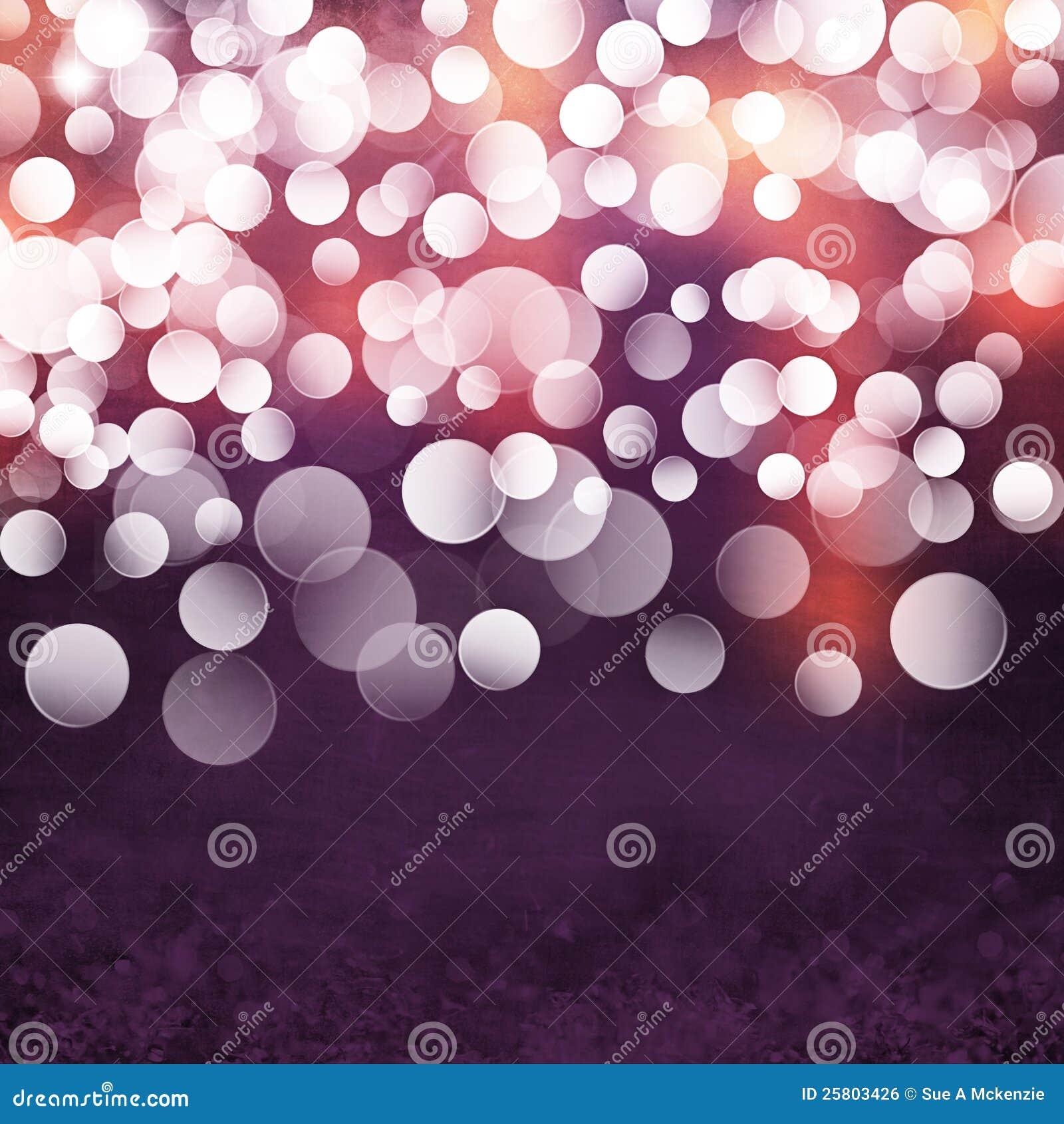 Elegant Textured Grunge Purple Gold Pink Christmas Light Bokeh Background