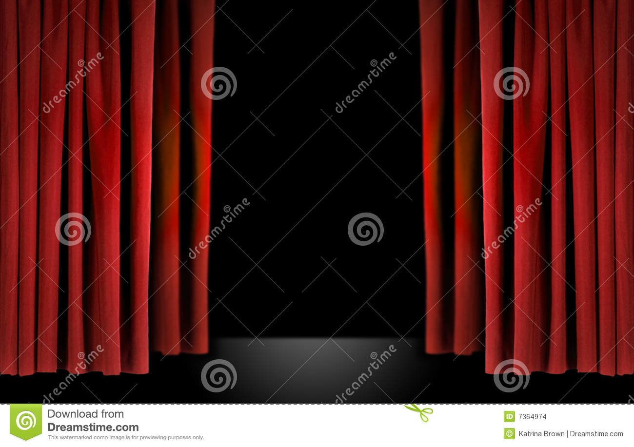 Stock photo dramatic red old fashioned elegant theater stage stock - Royalty Free Stock Photo Elegant Stage Theater