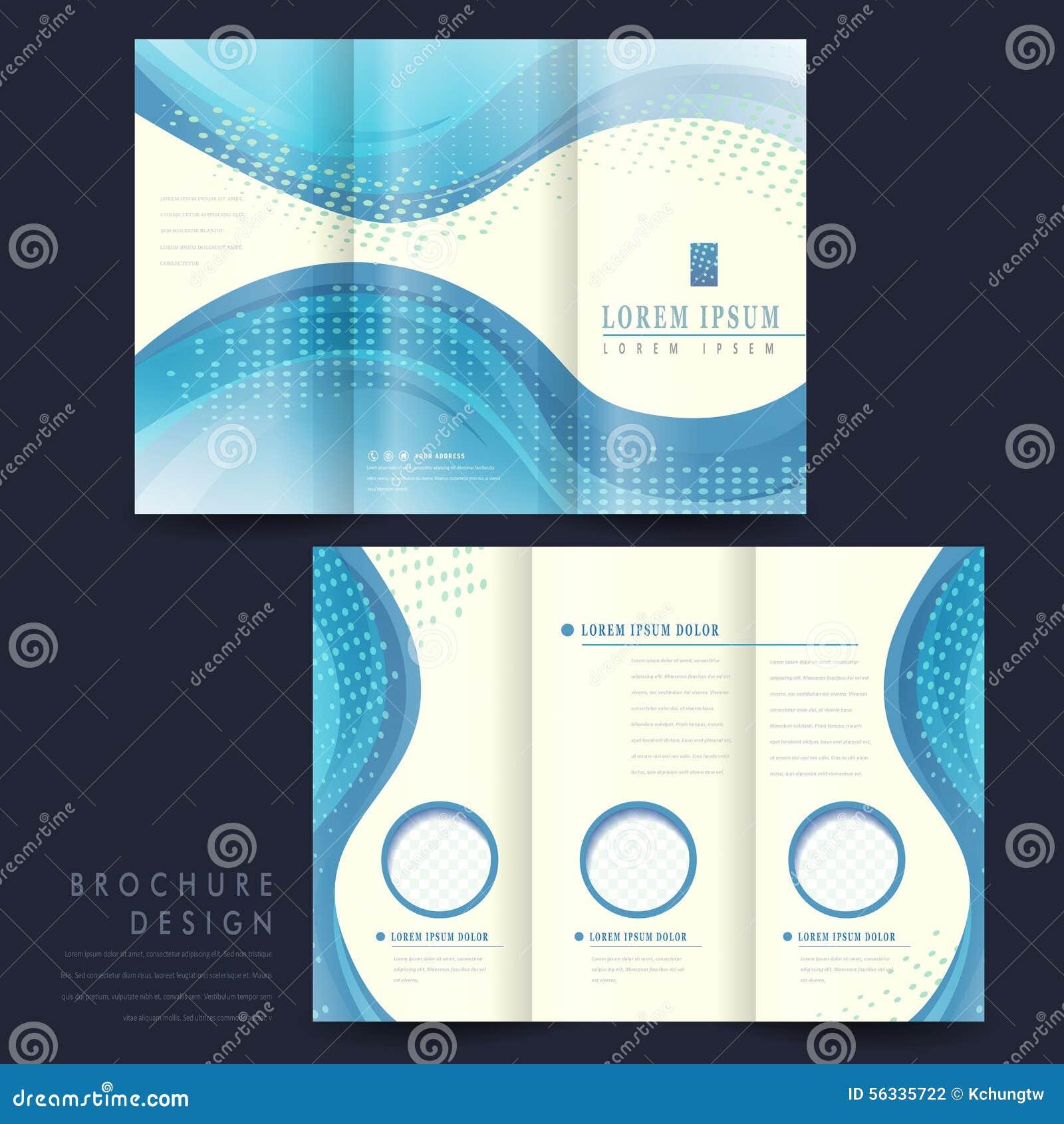 Elegant Tri Fold Brochure Template Design Illustration 56335722