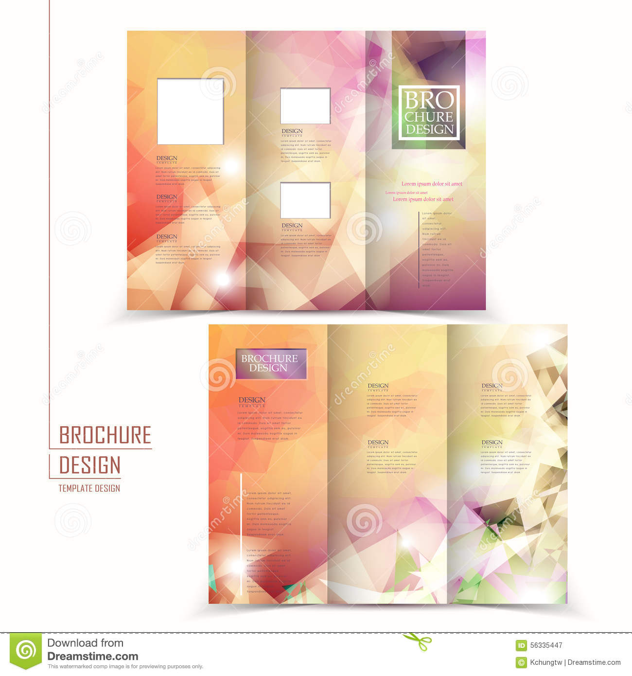 Modern Trifold Brochure Template Design Stock Vector Image - Elegant brochure templates